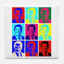 Reagan Portraits Tile Coaster