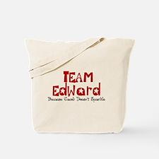Team Edward Jacob doesn't sparkle Tote Bag