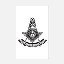 Past Master Rectangle Decal