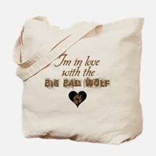 In love with big bad wolf Twilight Tote Bag