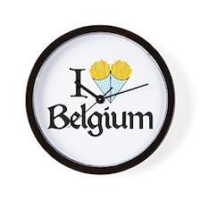I Love Belgium (Fries) Wall Clock