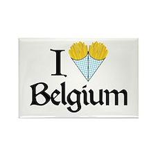I Love Belgium (Fries) Rectangle Magnet