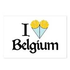I Love Belgium (Fries) Postcards (Package of 8)