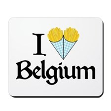 I Love Belgium (Fries) Mousepad