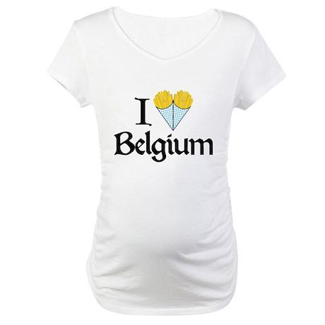 I Love Belgium (Fries) Maternity T-Shirt