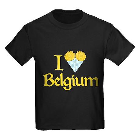 I Love Belgium (Fries) Kids Dark T-Shirt