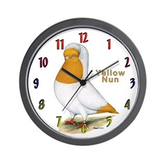 Yellow Nun Wall Clock
