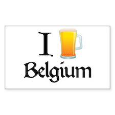 I Love Belgium (beer) Rectangle Decal