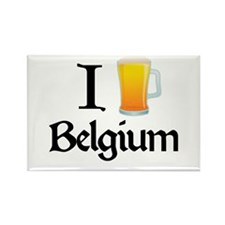 I Love Belgium (beer) Rectangle Magnet