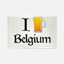 I Love Belgium (beer) Rectangle Magnet
