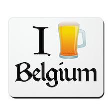 I Love Belgium (beer) Mousepad