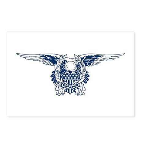 Blue American Eagle Postcards (Package of 8)