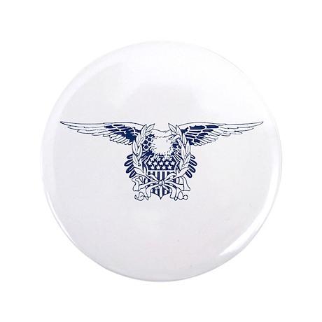 """Blue American Eagle 3.5"""" Button"""