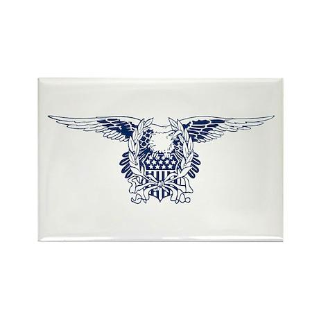 Blue American Eagle Rectangle Magnet