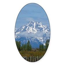 Teton Mountains Oval Decal