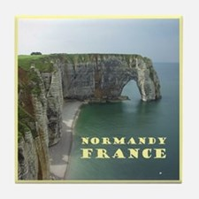 Normandy France Tile Coaster