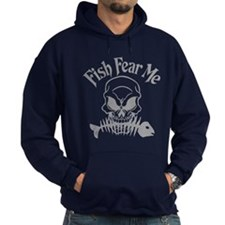 Fish Fear Me Skull Hoodie