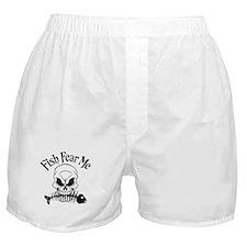 Fish Fear Me Skull Boxer Shorts