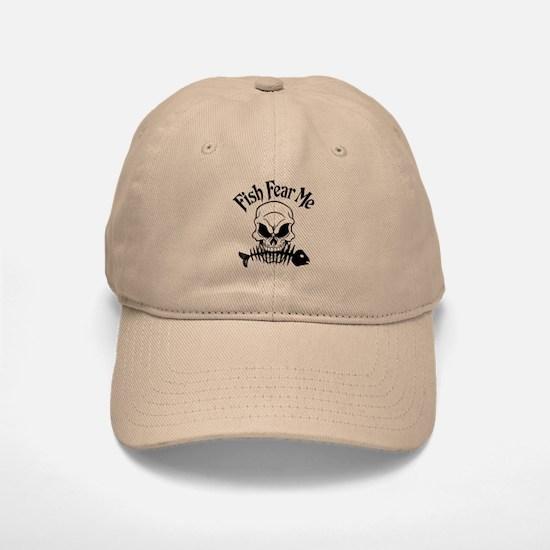 Fish Fear Me Skull Baseball Baseball Cap