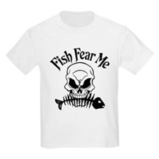 Fish Fear Me Skull T-Shirt