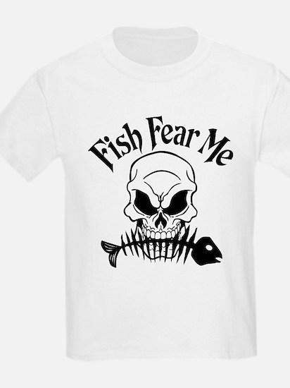 Fish Fear Me Skull T-Shirt