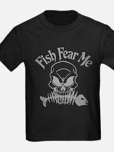 Fish Fear Me Skull T