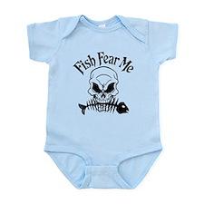 Fish Fear Me Skull Infant Bodysuit