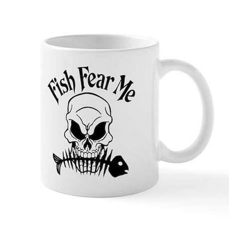 Fish Fear Me Skull Mug