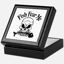 Fish Fear Me Skull Keepsake Box