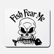 Fish Fear Me Skull Mousepad