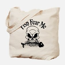 Fish Fear Me Skull Tote Bag