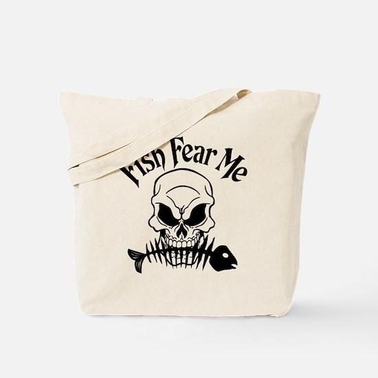 Fish Fear Me Skull Tote Bag
