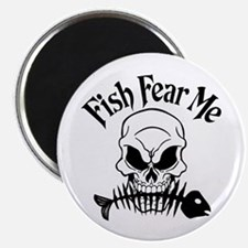 Fish Fear Me Skull Magnet