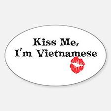 Kiss Me, I'm Vietnamese Oval Decal
