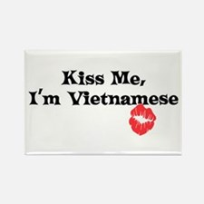 Kiss Me, I'm Vietnamese Rectangle Magnet