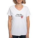 Kiss Me, I'm Swedish Women's V-Neck T-Shirt