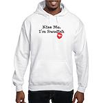 Kiss Me, I'm Swedish Hooded Sweatshirt