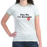 Kiss Me, I'm Romanian Jr. Ringer T-Shirt
