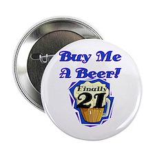 """Beer 21st Birthday 2.25"""" Button"""