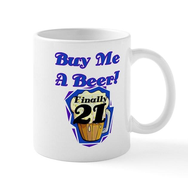 Beer 21st Birthday Mug By Peacockcards