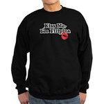 Kiss Me, I'm Filipina Sweatshirt (dark)