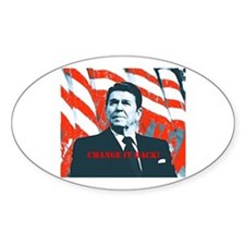 Reagan Change Oval Decal