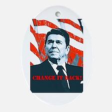 Reagan Change Oval Ornament