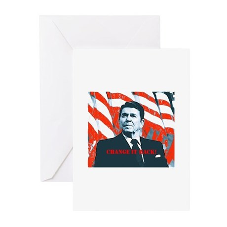 Reagan Change Greeting Cards (Pk of 10)