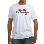 Kiss Me, I'm American Fitted T-Shirt