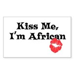 Kiss Me, I'm African Rectangle Sticker