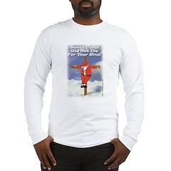 Santa Cross Long Sleeve T-Shirt