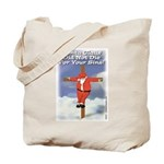 Santa Cross Tote Bag