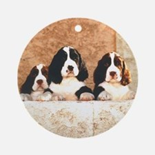 English Springer Pups 2 Ornament (Round)