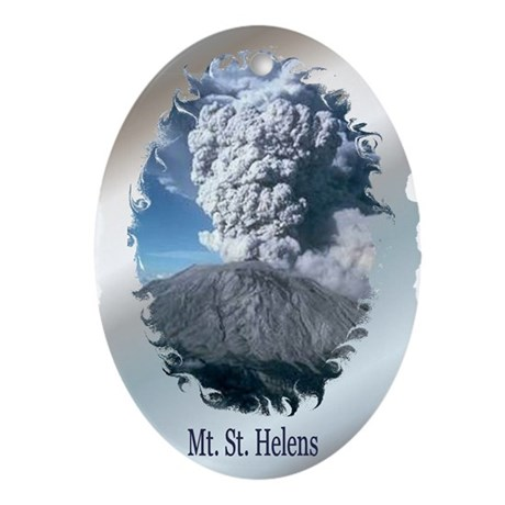 Mt. St. Helens Oval Ornament